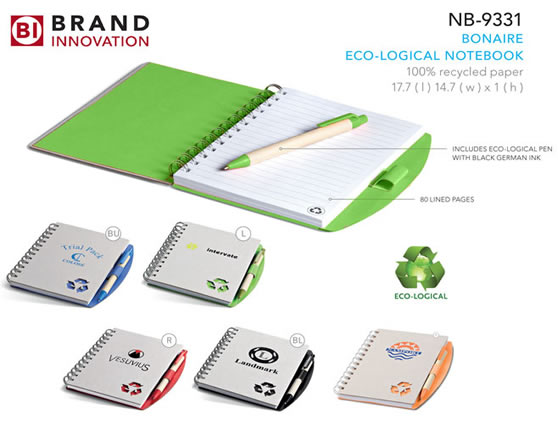 Bonaire Eco Friendly Notebook