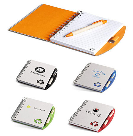 Bonaire Eco Friendly Notebook and eco friendly Pen