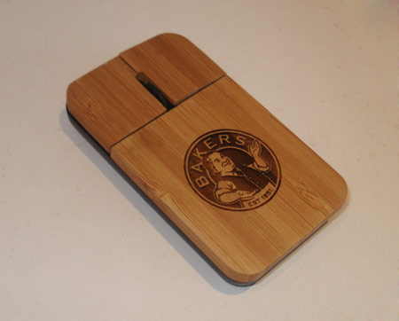 Engraved Bamboo Computer Mouse Eco Corporate Gifts South Africa