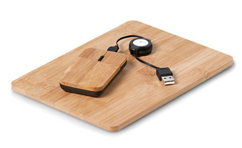 Eco Corporate Gifts technology mouse ans mousepad